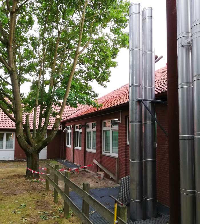 Schornsteine an Haus