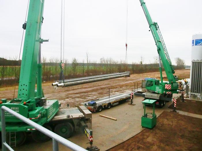 Stahlschornstein Montage